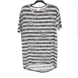 NWT Lularoe Irma Black White Striped Top